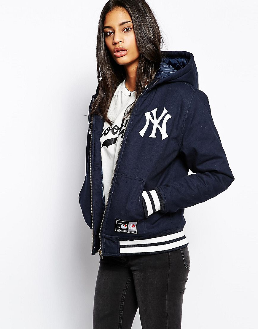 d3c386091 Majestic+New+York+Yankees+Hooded+Coat