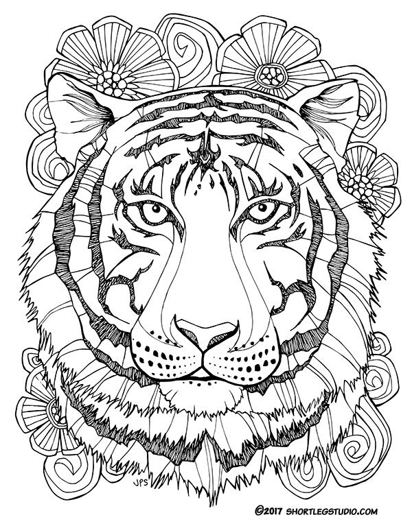 New Tiger Coloring Sheets Short Leg Studio Mandala Coloring Pages Animal Coloring Pages Turtle Coloring Pages