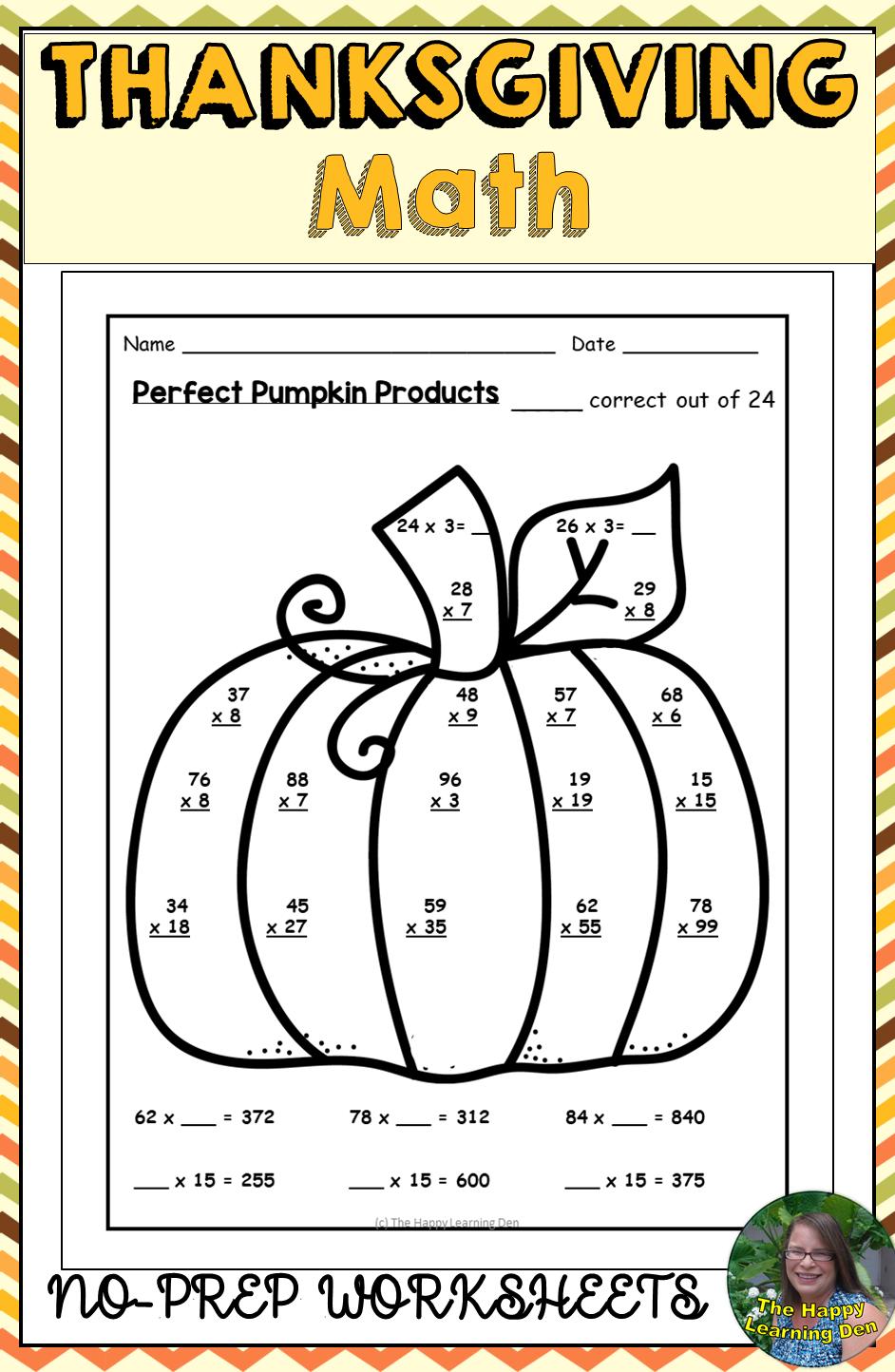 medium resolution of Thanksgiving Math Worksheets Activities   Thanksgiving math worksheets