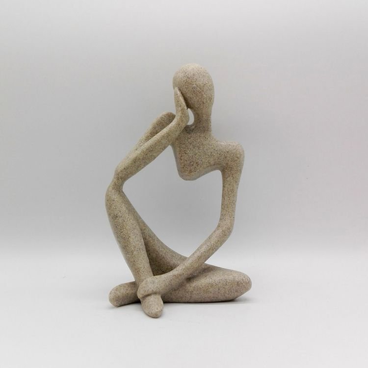 New Sandstone Sculpture For Home Decoration Human Statue Abstract Indoor Sculptu... - #abstract #decoration #human #indoor #sandstone #sculpture #statue - #CeramicArt