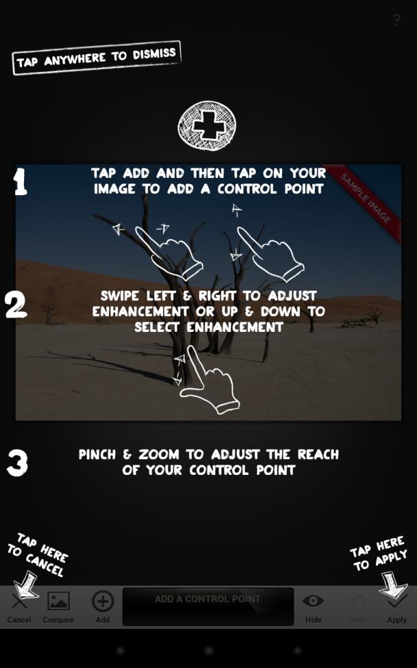 Snapseed app user guide overlays user documentation