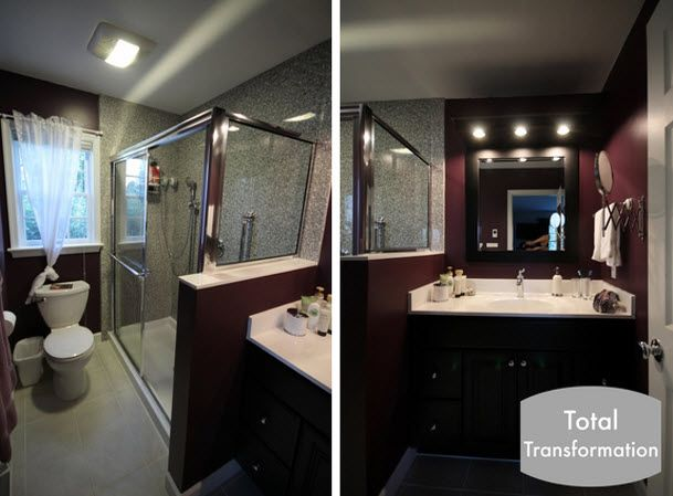 Great example of a guest bathroom remodeling project we for Bathroom designs lebanon