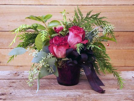 Winter Rose Pot - Fresh and in Season - from Angela's Bella Flora