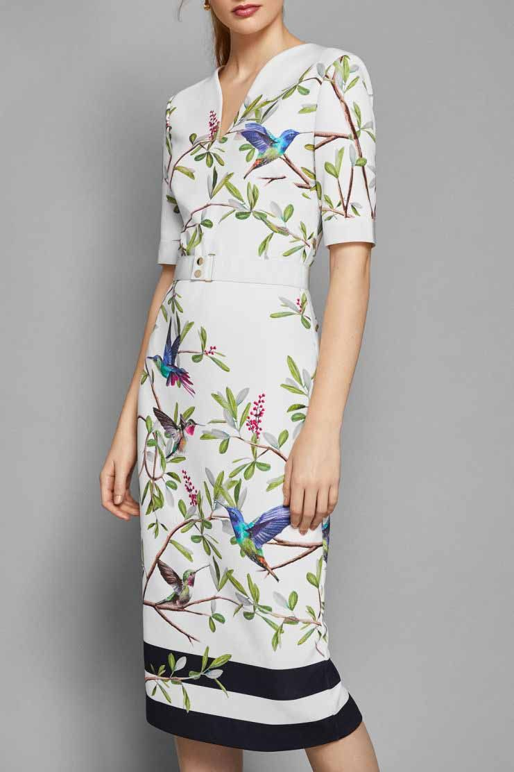 5b18063ba83bd3 Ted Baker Evrely Highgrove Bodycon Midi Dress