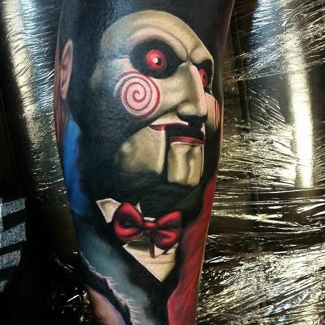 Billy from Saw tattoo by Alex Wright | Best tattoos ...