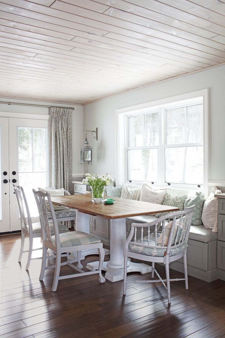 Pin By Misty Hollier On Great Design Window Seat Kitchen Farmhouse Dining Home