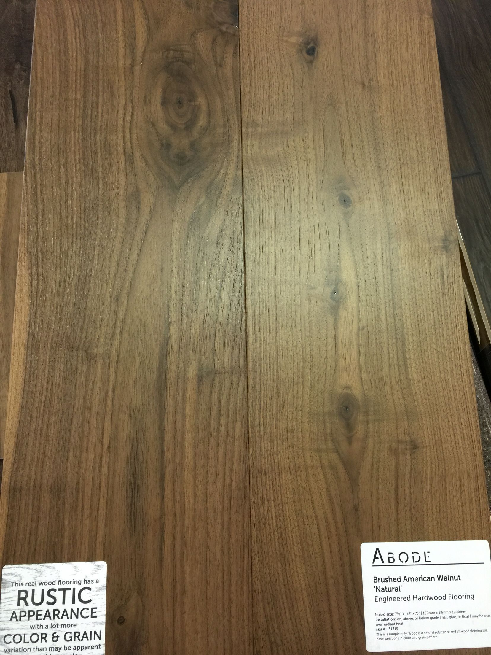 Abode Brushed Walnut Wide Plank Engineered Flooring