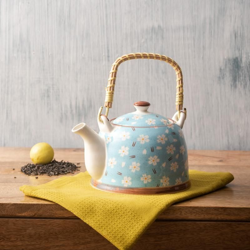 Arctic Flora Ceramic Tea Kettle Thedecorkart Tea Kettle Kettle Ceramics