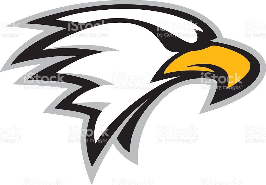 Logo style eagle head mascot. Great for sports logos