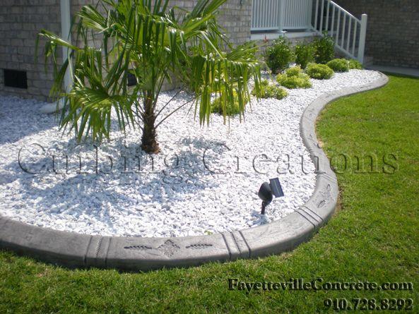 white landscaping rock