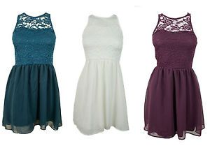 93152525d New Girls Fancy Raised Lace Skater Chiffon Party Dress Age 8 9 11 12 ...