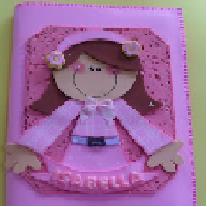 Craft lindo: la caja del cuaderno en EVA con PAP y moldes