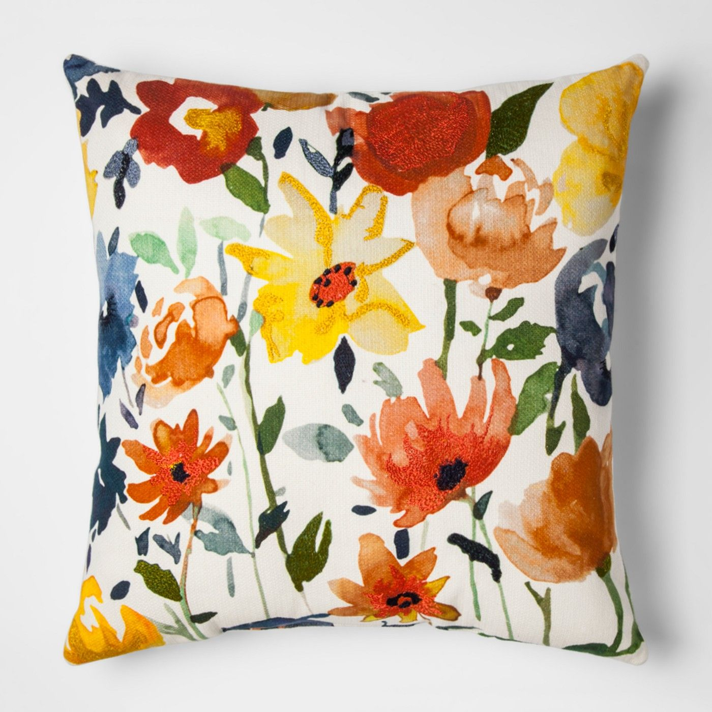 White And Cream Floral Throw Pillow Threshold™ image 1