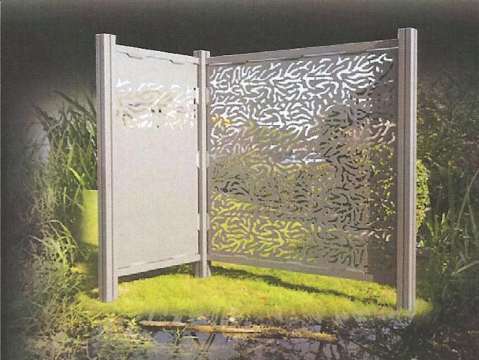 cloisons d coratives et am nagement de panneaux aluminium. Black Bedroom Furniture Sets. Home Design Ideas