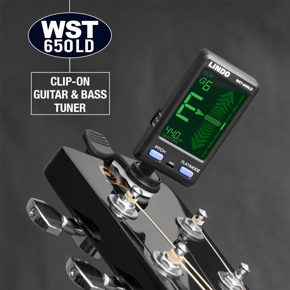Clip on acoustic guitar string digital tuner electronic simple tuning 6 strings