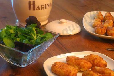 Cocina con Quenyin: Croquetas de bacalao con piñones y ajos tiernos