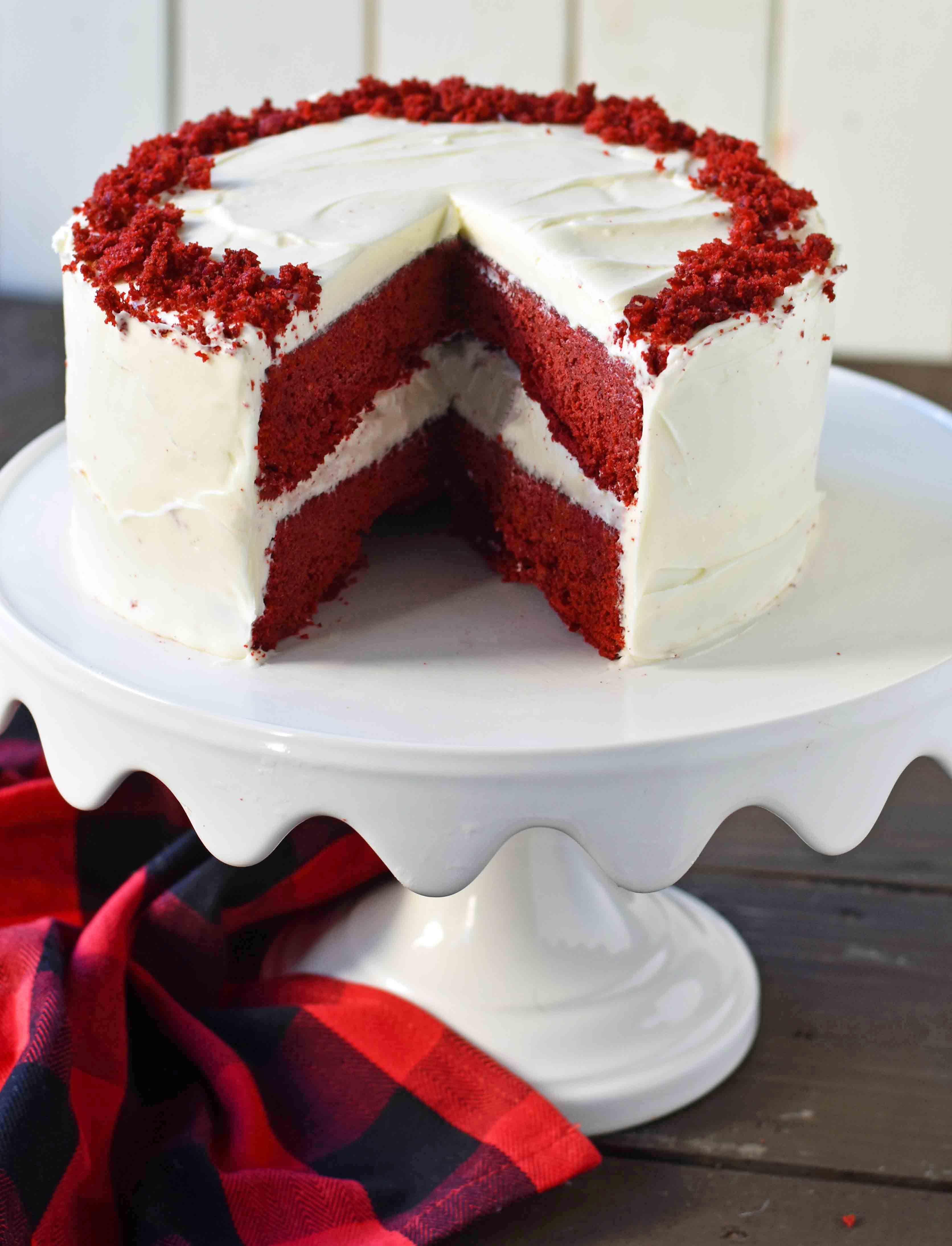 23 Inspiration Image Of Red Velvet Birthday Cake In 2020 Velvet Cake Recipes Red Velvet Cake Recipe Homemade Red Velvet Cake