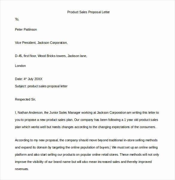 Free Sales Proposal Template Lovely 10 Proposal Letter