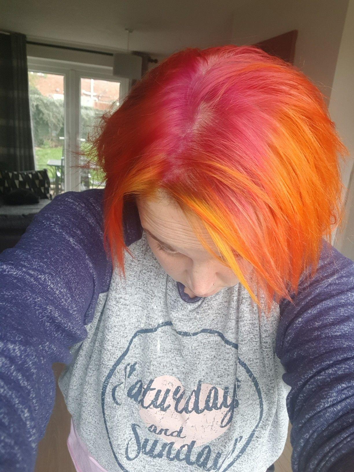Orange Yellow Pink Hair Fox Hair Dye Arctic Fox Hair Dye Dyed Hair