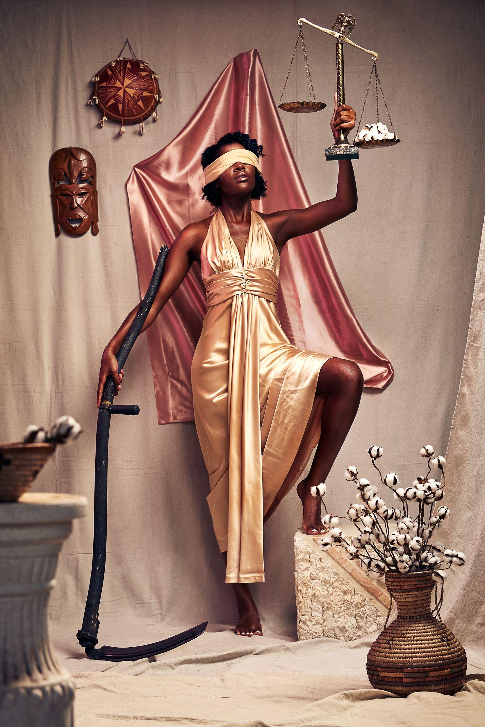 Lady Justice Black Girl Magic Art Black Women Art Black Girl Art