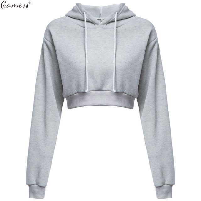 5bb7581ae Woman Crop Hoodies Autumn Chic Lace Up Long Sleeve Pullover Sweatshirt  Women Crop Top Girls Black