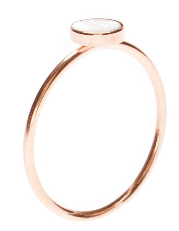 Happiness Boutique Damen Zierlicher Ring Mit Kreis In Rosegold