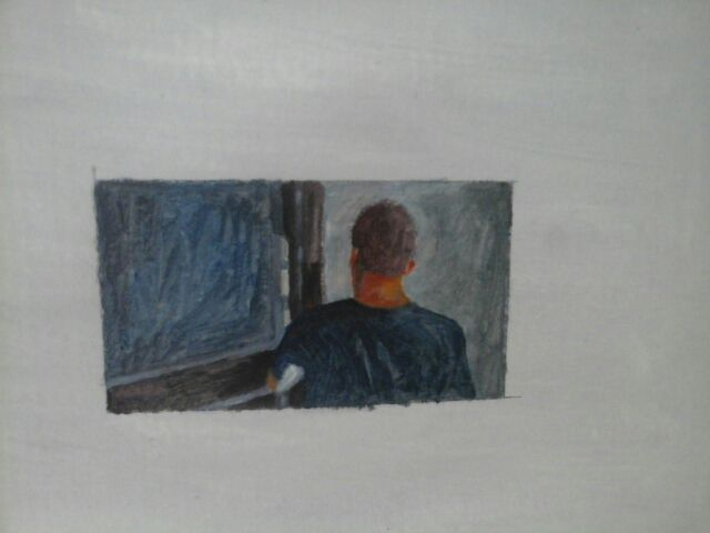 Oleo s/ Papel.2015   9 cm x 15 cm.