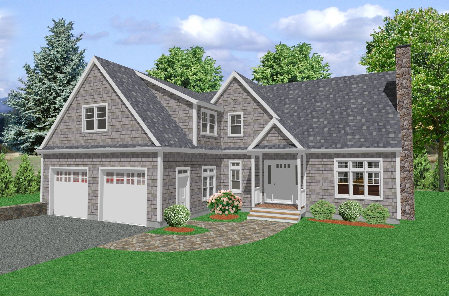 Cape cod style homes house plan two story traditional for Traditional country homes