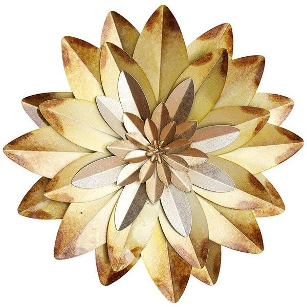 Flower Metal Wall Art ($30) ❤ liked on Polyvore featuring home ...