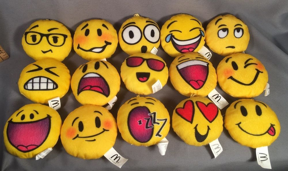 Lot Of 15 Emoji Plush Mcdonald S Happy Meal Toys Mcdonalds Happy Meal Mcdonalds Happy Meal Toys Happy Meal