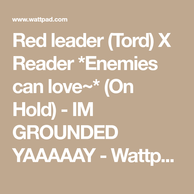 Red leader (Tord) X Reader *Enemies can love~* (On Hold