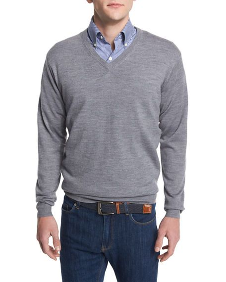 246264ca9f55 Peter Millar Merino Wool V-Neck Sweater.  petermillar  cloth ...