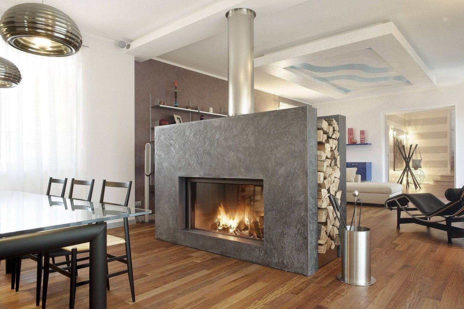 Modern Open Fireplace Designs To Warm Your Home