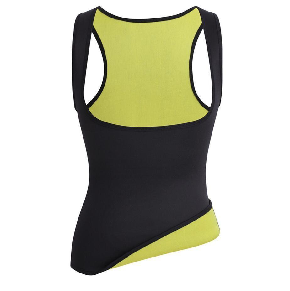 dc3c4bd220d6 Gilet de Sudation pour Femme T-shirt Débardeur Minceur Fitness Fort  Compression pour Perdez du Poids Facilement - Triple couche Fait tran…