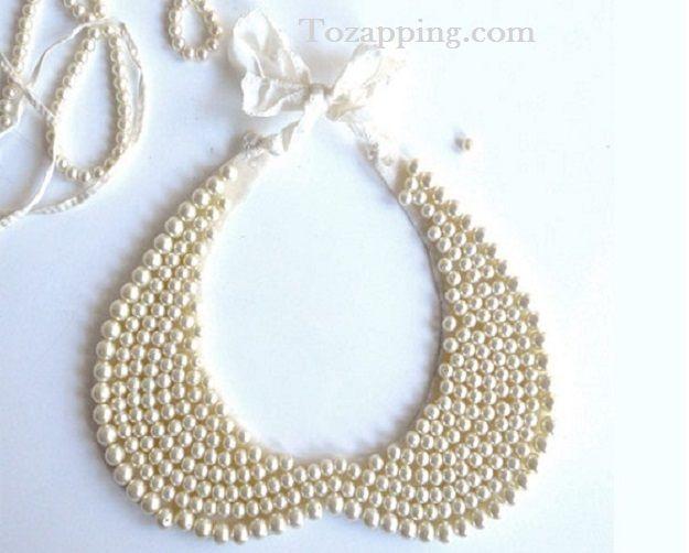 Hoy un collar babero con perlas que podemos hacernos muy fácil ...