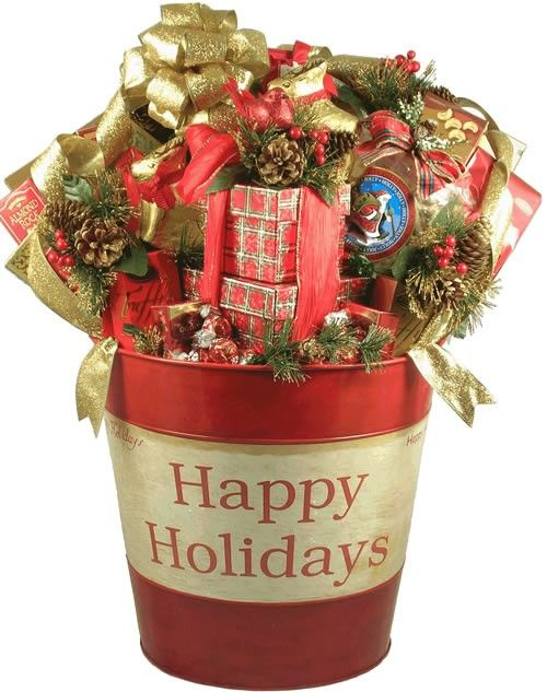 the seasons best extra large holiday gift basket for a large group