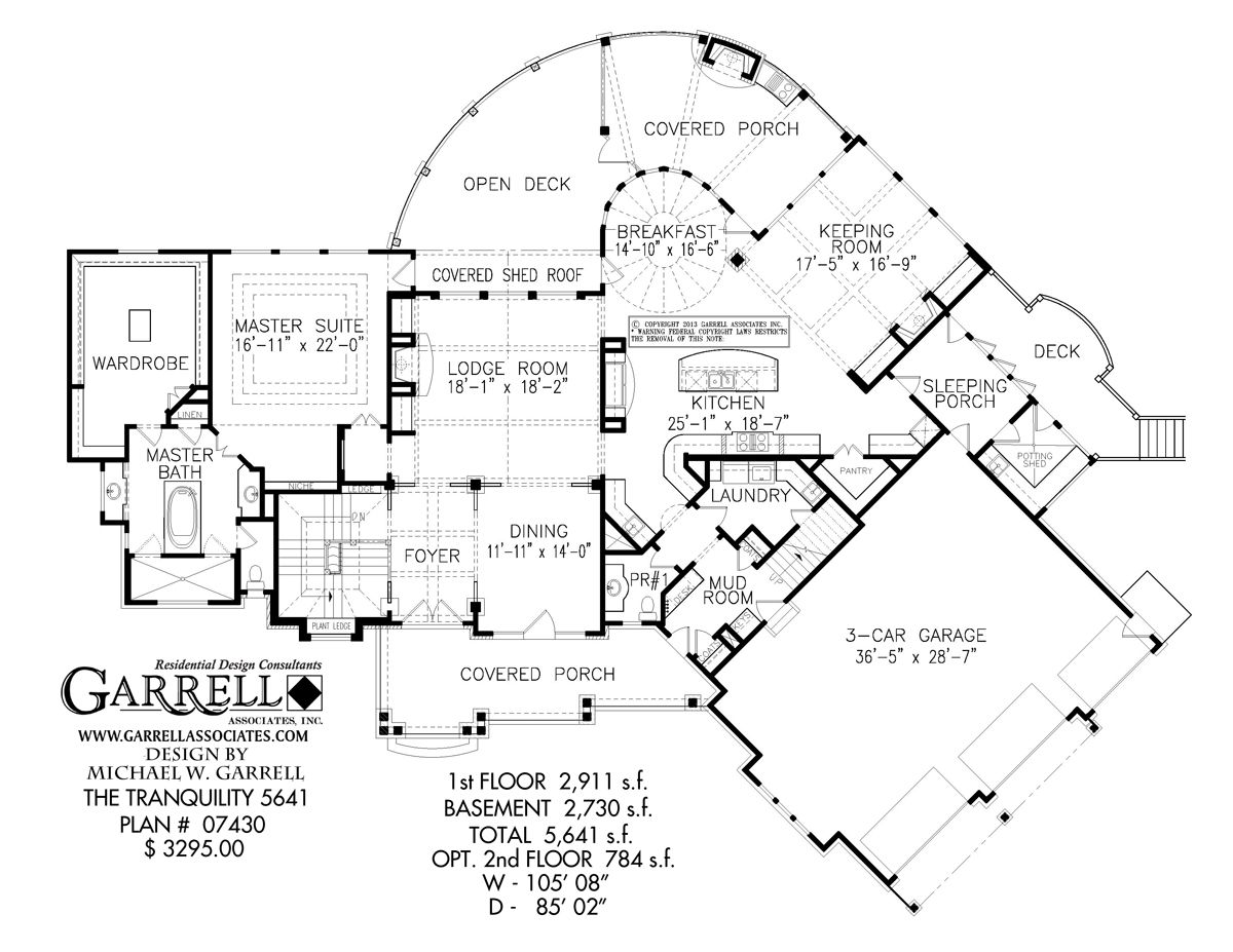 tranquility 5641 house plan house plans by garrell