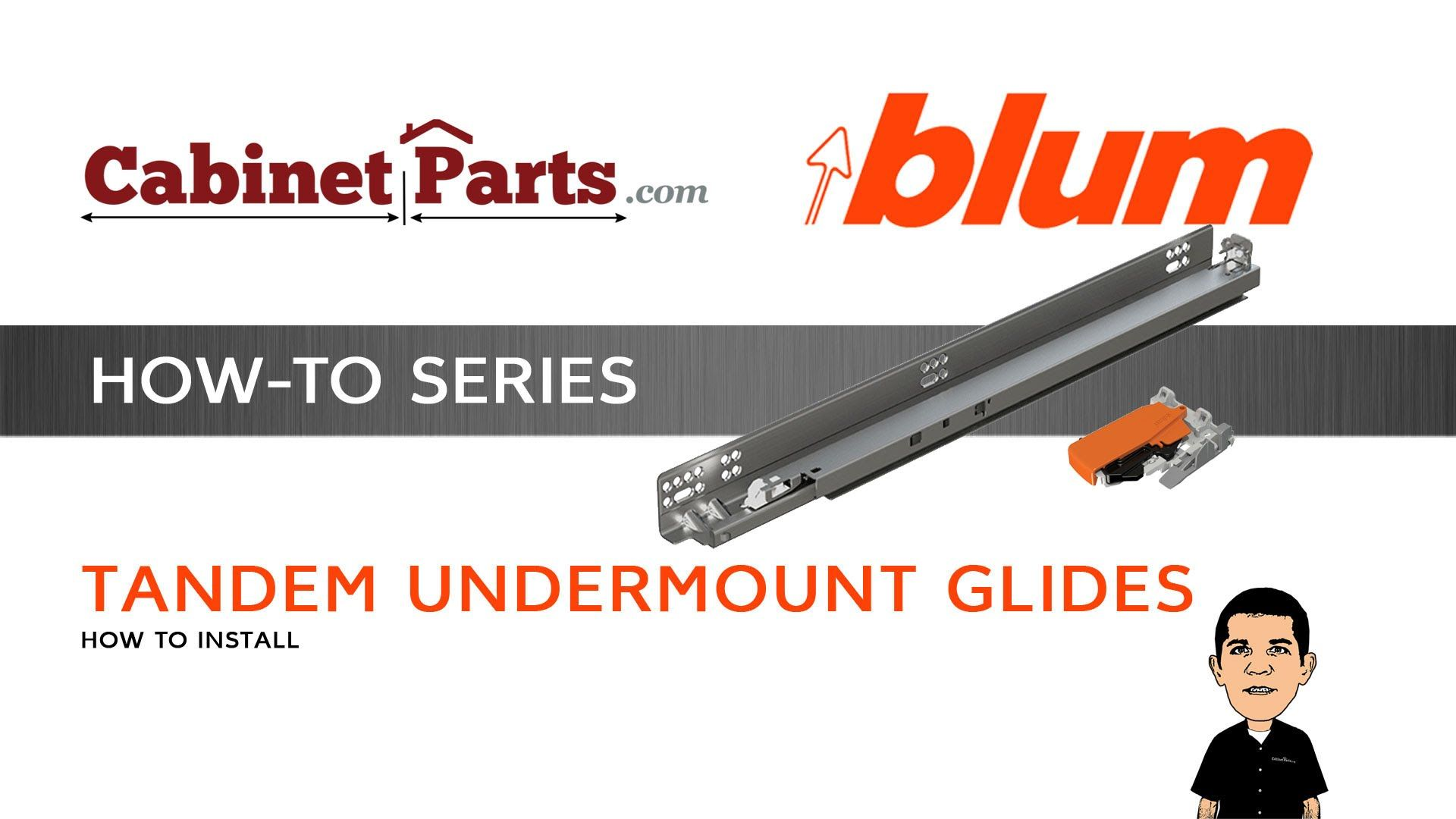 How To Install Blum Tandem Drawer Slides With Blumotion Cabinetparts Com Tandem Drawer Slides Drawers
