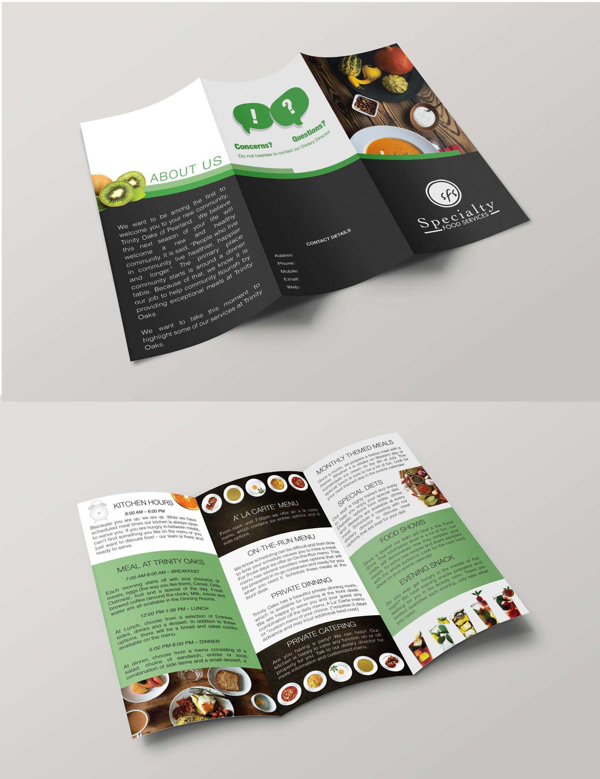 3 fold brochure design for the food industry brochure design
