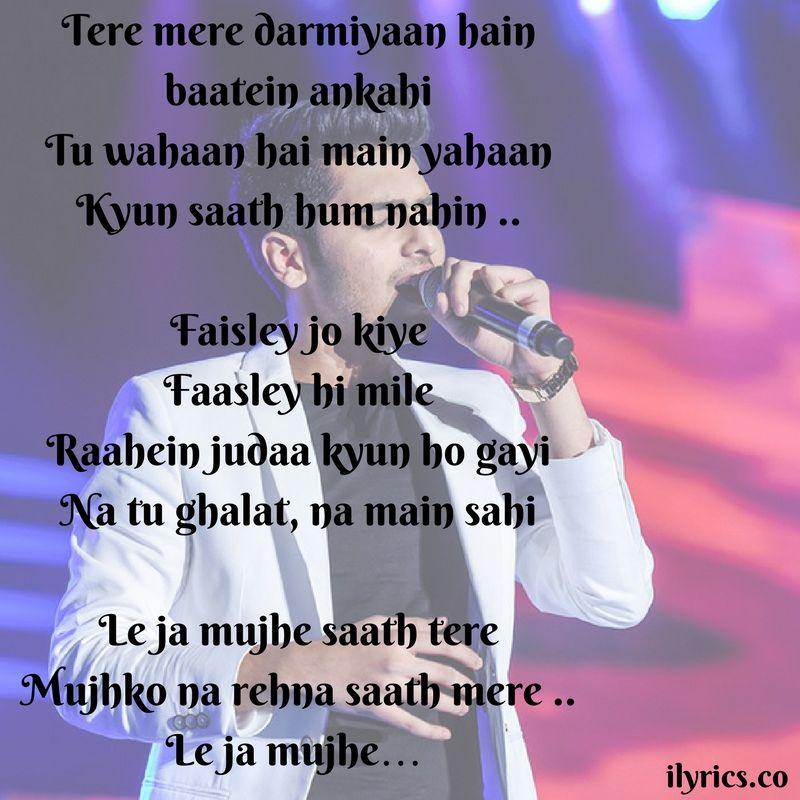 Lyric much more lyrics : tere mere lyrics | Love ❤ | Pinterest | Poem