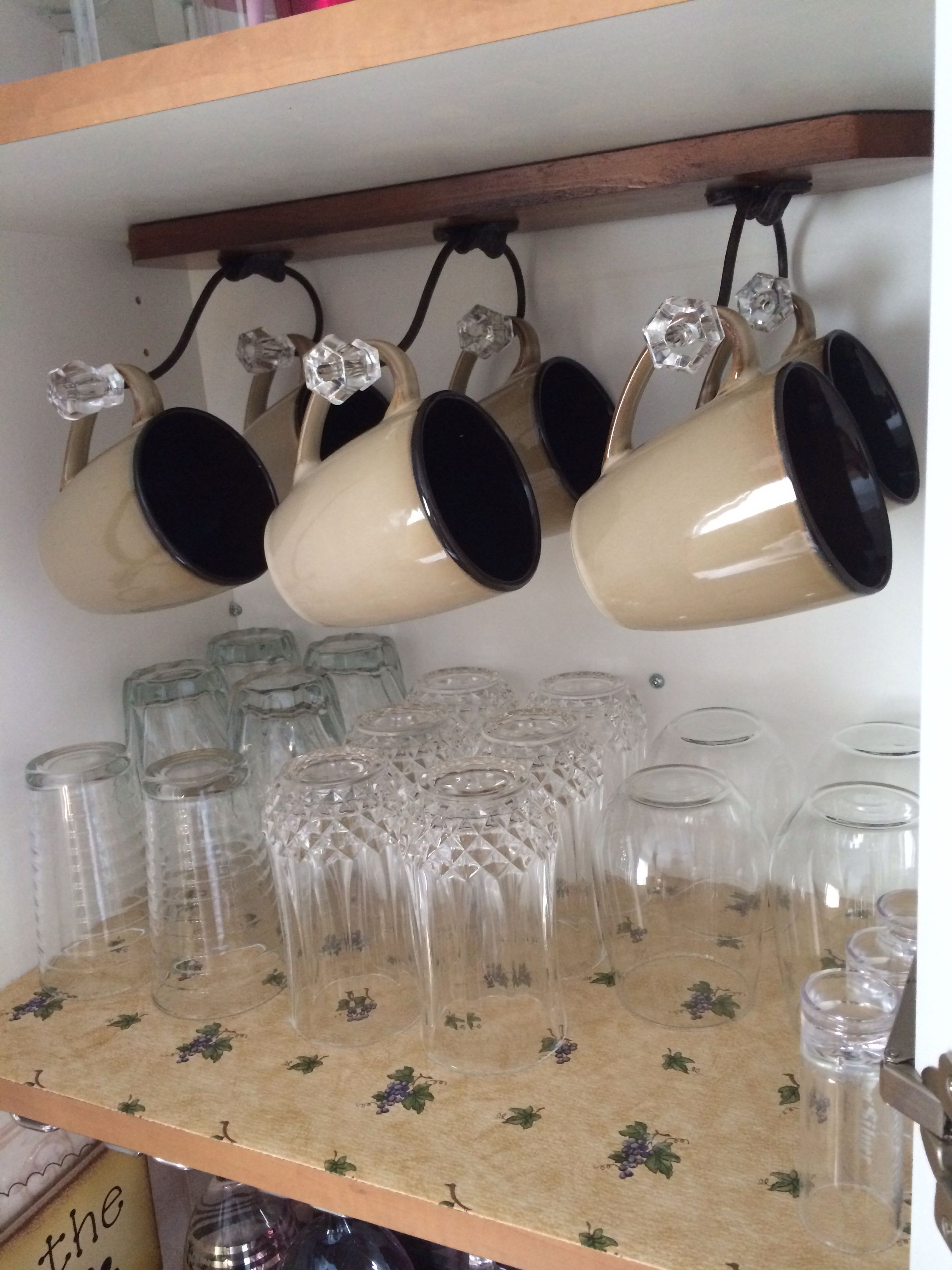 Turned A Coat Hanger Into A Coffee Cup Hanger Coffee Cups Diy Creative Decor Coffee Cups