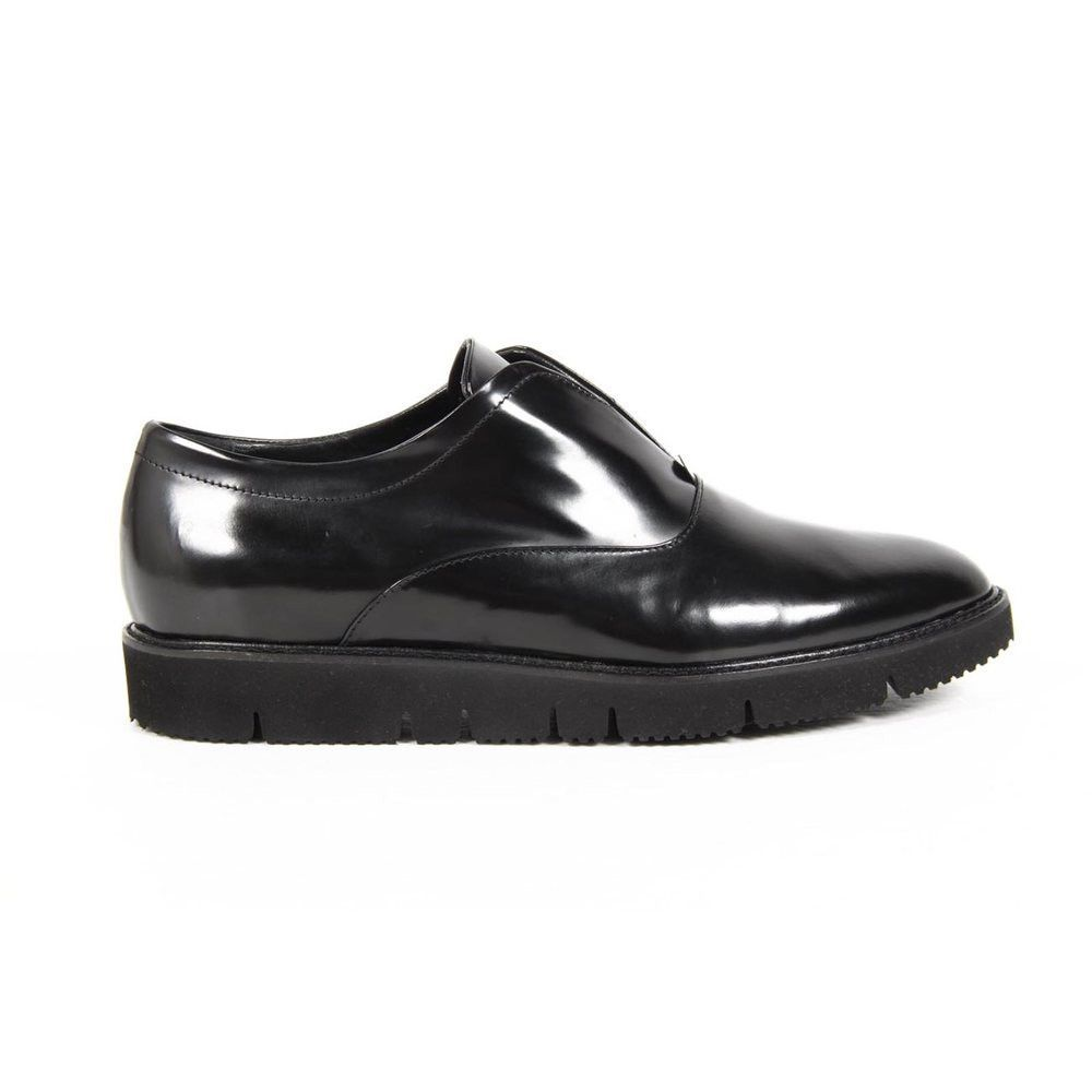 Black 39,5 IT - 9,5 US Versace 19.69 Abbigliamento Sportivo Milano ladies oxford shoes B1583 AMALFI NERO