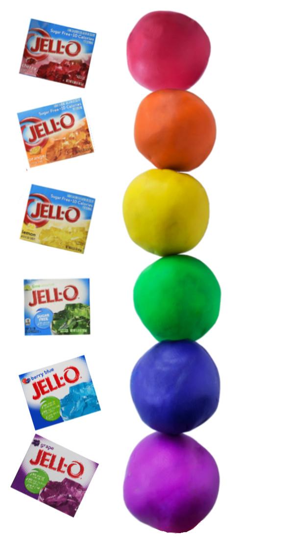 Jello Play Dough Playdough activities, Homemade