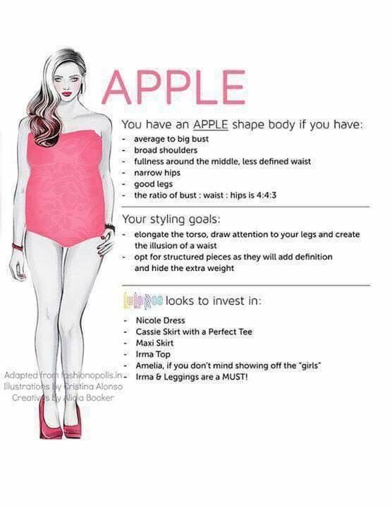 I am an apple shape, what LuLaRoe Items are good for my body