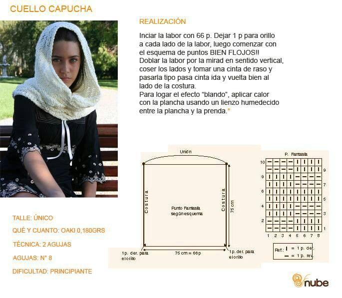 Cuello capucha   Шапочки, снуди, шарфи, хустки   Pinterest   Crochet