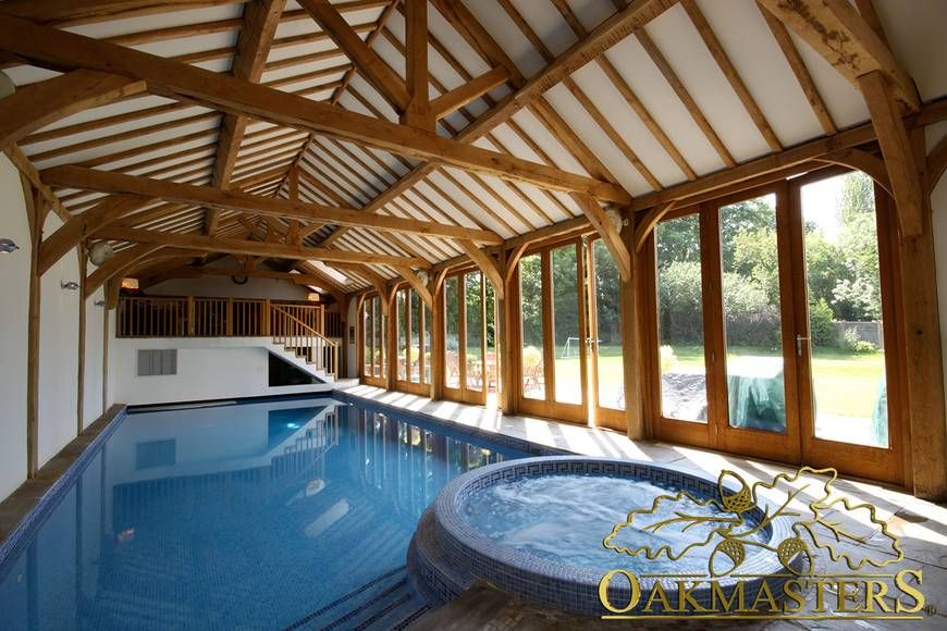 oak indoor swimming pool ideas - google search | wood house