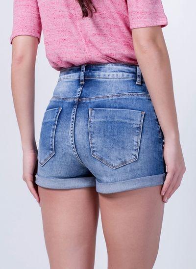 6eadf1d67 Short Jeans com Barra Dobrada