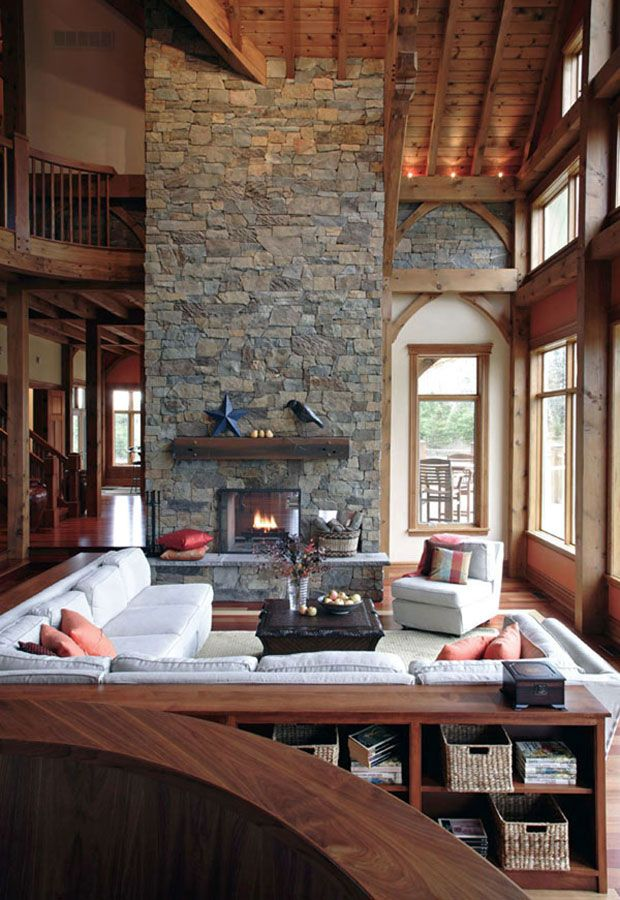 Timber Frame Interior Design - Normerica Authentic Timber Frame ...