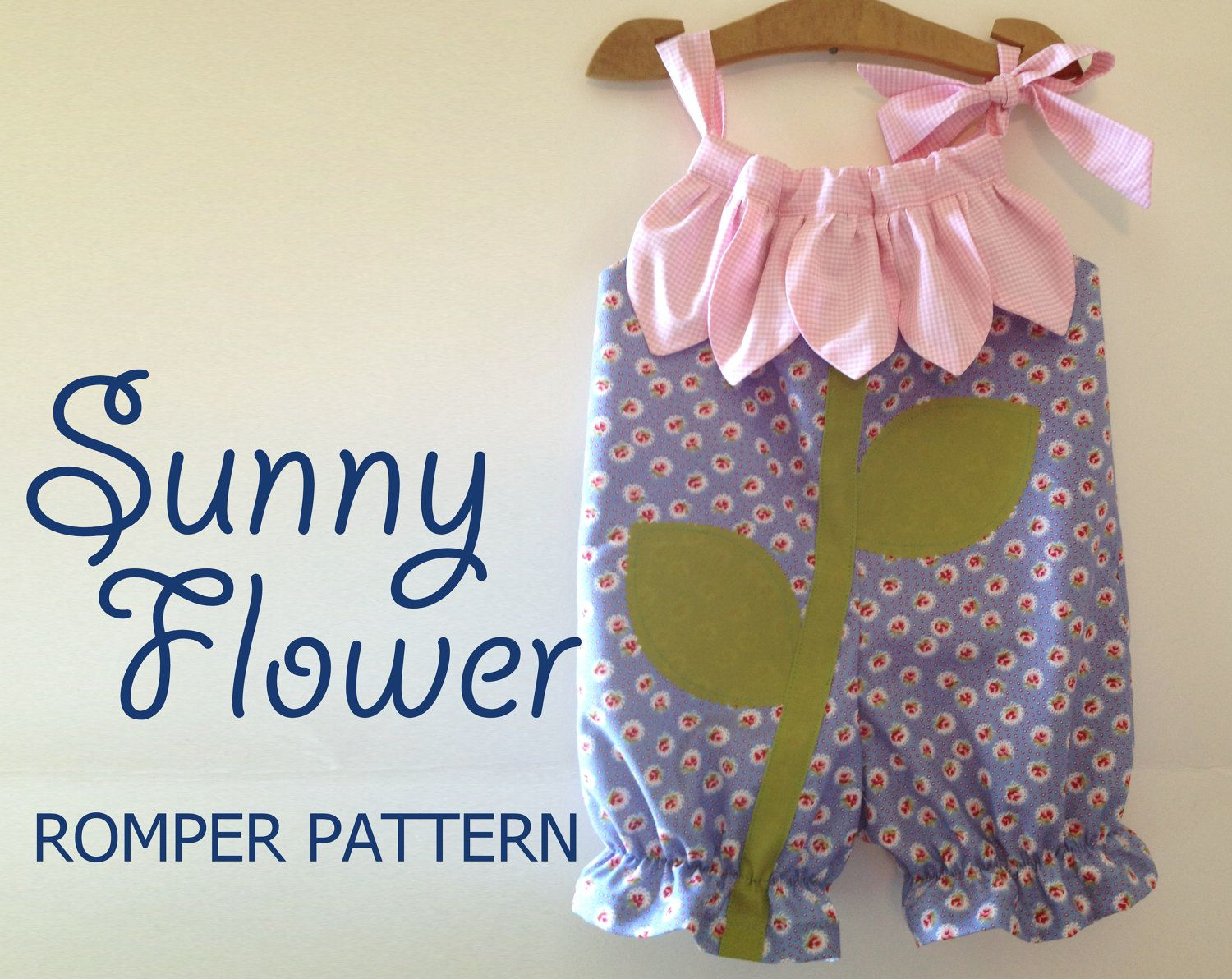Sunny flower pillowcase romper pattern girl baby toddler sewing sunny flower pillowcase romper pattern girl baby toddler sewing pattern easy sew sizes 12 1 2 3 4 5 6 included jeuxipadfo Choice Image