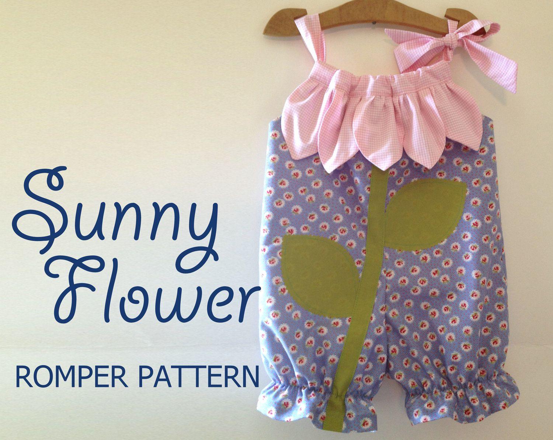 Sunny Flower - Pillowcase Romper Pattern. Baby Children Clothing ...